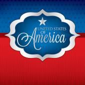 Shape with USA sign — Stockvektor