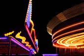 Fairground shot at night — Stock Photo