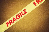 Fragile tape — Stock Photo