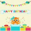 Birthday party card — Stock Vector #77982674