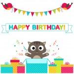 Birthday party card — Stock Vector #78450488