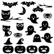 Halloween silhouettes — Stock Vector #83804476