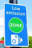 Low emission zone — Stock Photo