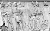 Ancient basrelief in London, UK — Stock Photo