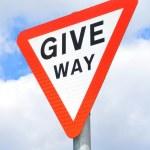 Постер, плакат: Give way