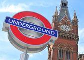 London Underground sign — Stock Photo