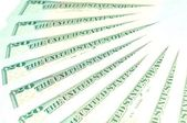Fundo de dólares — Fotografia Stock