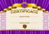Elegant template of certificate, diploma — Stock Vector