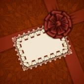 Elegant vector template for luxury invitation, card — Stock Vector