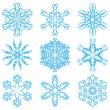 Set of blue snowflakes — Stock Vector #54044719