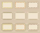 Set of elegant templates frame design — Stock Vector