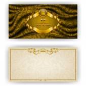 Elegant template for vip luxury invitation — Stock Vector