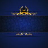 Elegant golden frame banner — Stock Vector