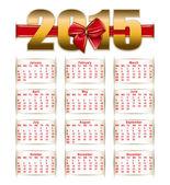 2015 calendar template — Stock Vector
