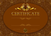 Elegant template of certificate — Wektor stockowy
