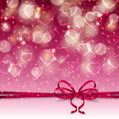 Festive background with hearts — Stock Vector