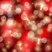 праздничный фон с сердцами — Cтоковый вектор