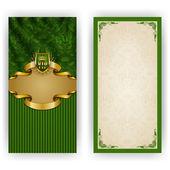 Elegant templates for luxury invitation — Stock Vector
