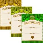 Elegant template of certificate, diploma — Stock Vector #66269339