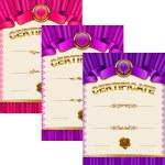 Elegant template of certificate, diploma — Stock Vector #66269643