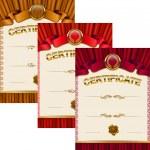 Elegant template of certificate, diploma — Stock Vector #66269879