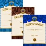 Elegant template of certificate, diploma — Stock Vector #66270005