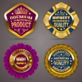 Golden badges — Stock Vector