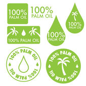 Palm oil vector collection — Stock Vector