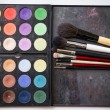 oogschaduw palet en borstel voor professionele make-up — Stockfoto #54519609