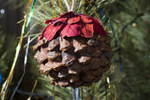 Fir cone - Christmas balls — Stock Photo