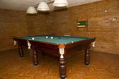 Billiard table in the house — Stock Photo