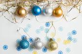 Christmas balls on a white background — Stock Photo