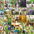 Beautiful woman collage made of 61 different pictures of women — Stock Photo #77198671
