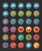 Ícones de rede e compartilhamento — Vetor de Stock