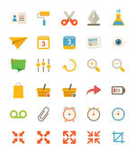 Miscellaneous Flat Icons — Stock Vector
