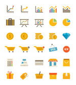 Shop And Finance Icons — Stock Vector