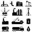 Oil petrol icon set — Stock Vector #58451187