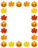 Herbst fotorahmen — Stockvektor