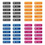 Web buttons — Stock Vector #53382047