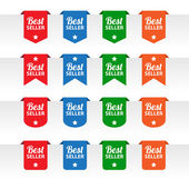 Best seller paper tag labels — Vettoriale Stock