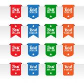 Best seller paper tag labels — Stock Vector