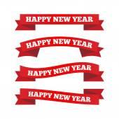 Happy new year ribbons — Stock Vector