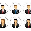 Business profile icons — Stock Vector #59763005