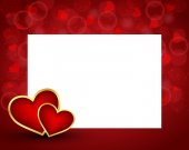 Valentine's day background with card — Stock Vector