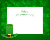 St Patrick's day background with card — Stock Vector
