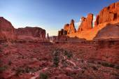 Park Avenue Section Arches National Park Moab Utah  — Stock Photo