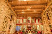Old Mission Santa Ines Solvang California Basilica Altar Cross A — Stock Photo