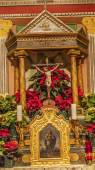 Old Mission Santa Ines Solvang California Basilica Altar Cross a — Stock Photo