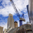Building Crane Skyscrapers Skyline New York City NY — Stock Photo #53498547