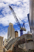 Bygga crane skyskrapor skyline new Yorks ny — Stockfoto